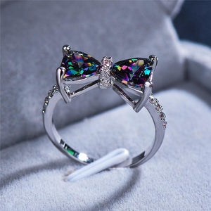Forget Me Not Bow Ring