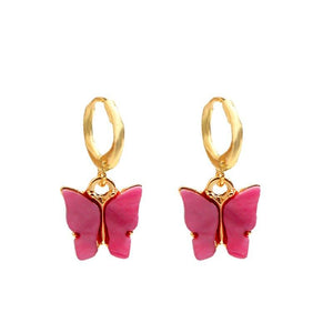 Butterfly Charm Earrings