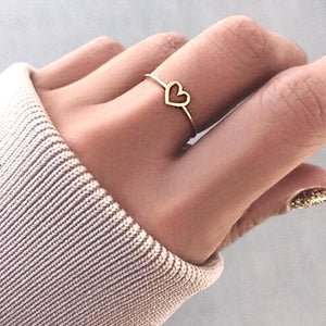 Simple Heart Design Ring