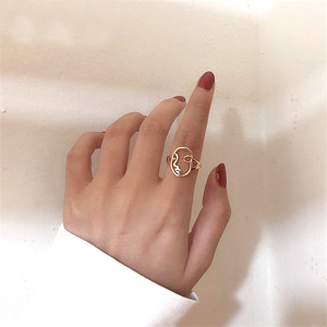 Hollow Abstract Face Ring