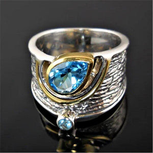 Blue Crystal Statement Ring