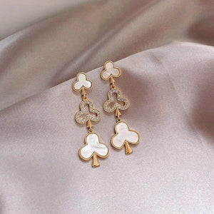 Crystal Club Suit Earrings