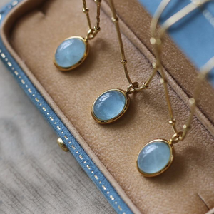 Aquamarine 18K Gold Necklace