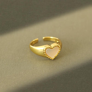 Heart-Shaped Pearl Ring