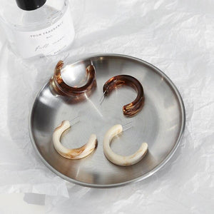 Classic Resin Hoop Earrings