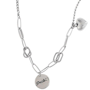 Smile & Heart Charm Necklace