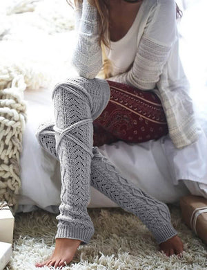 Solid Thick Winter Warm Knee Length Socks