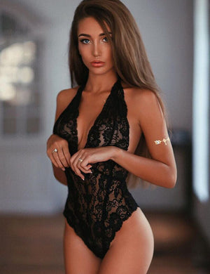 Lace See Through Bodysuits