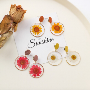 Dried Daisy Earrings