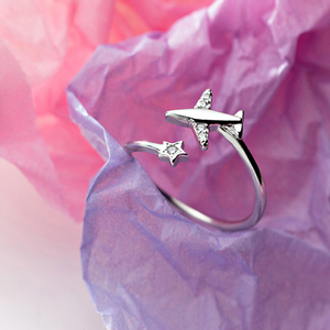 Airplane 925 Sterling Silver Ring