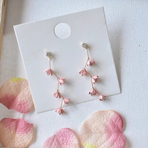Pink Cherry Blossom Earrings
