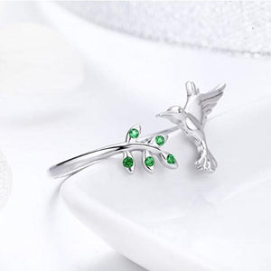 Hummingbird 925 Sterling Silver Ring