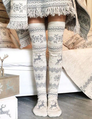Knitted SnowThick Over Knee Long Thigh High Socks