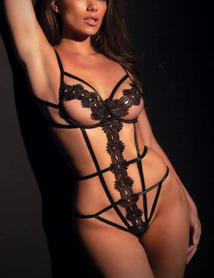 Open Cup Lace Teddy