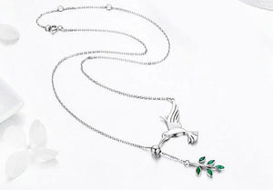 Hummingbird 925 Sterling Silver Necklace