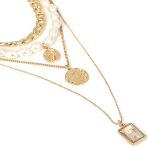 Universal Luck Multi Layered Necklace