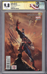 Spider-Man #2 CCG SS 9.8 J Scott Campbell Signed Captain America Variant Cover