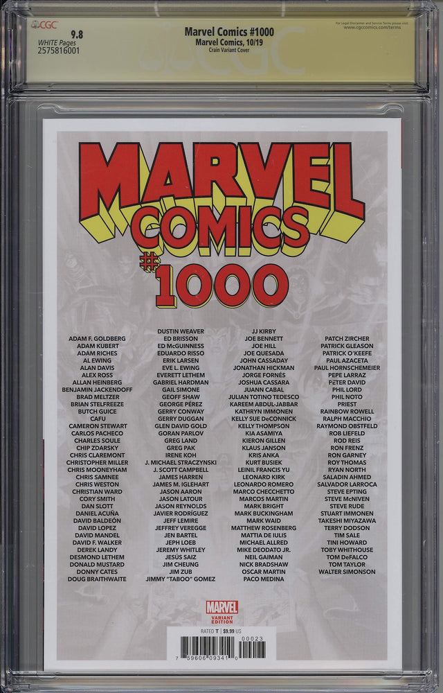 Load image into Gallery viewer, Marvel Comics #1000 CGC SS 9.8 Clayton Crain Variant