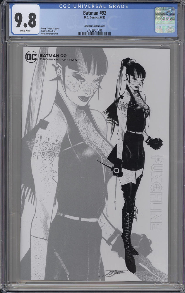 Batman #92 CGC 9.8 Jimenez B&W Design Variant - One per store retailer exclusive
