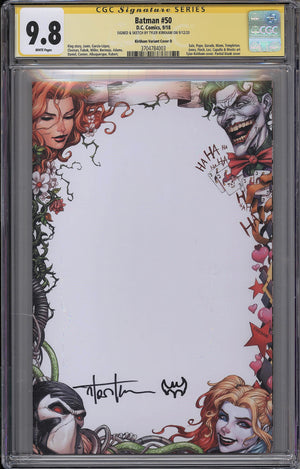 Batman #50 CGC SS 9.8 Tyler Kirkham - Remarked Convention Exclusive Blank Cover