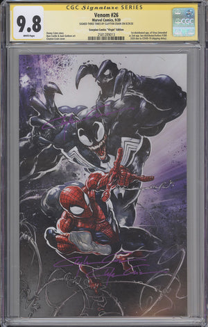 Load image into Gallery viewer, Venom #26 CGC SS 9.8 Clayton Crain Virgin Variant - 3x signed