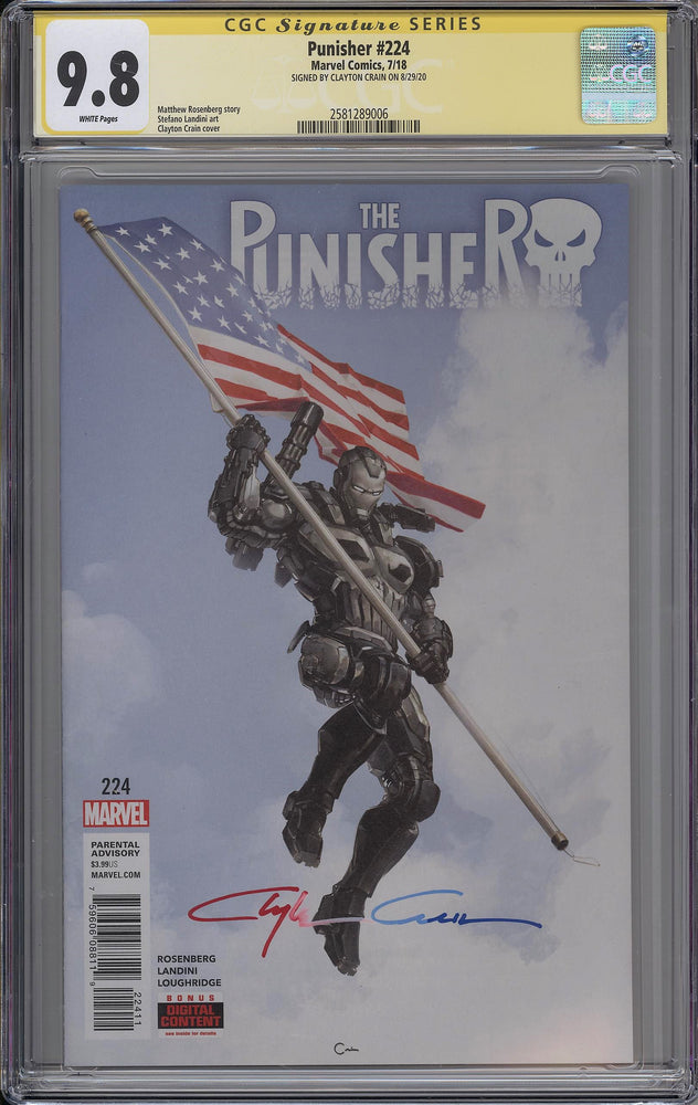 Load image into Gallery viewer, Punisher #224 CGC SS 9.8 Clayton Crain - Punisher War Machine