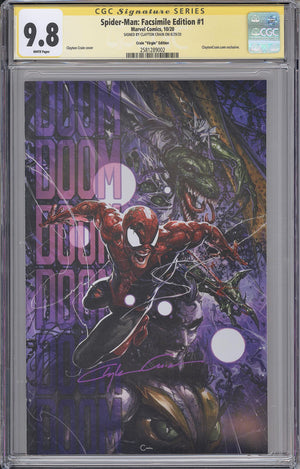 Load image into Gallery viewer, Spider-Man #1 CGC SS 9.8 Clayton Crain Facsimilie Edition Virgin Variant