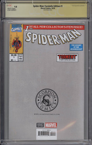 Spider-Man #1 CGC SS 9.8 Clayton Crain Facsimilie Edition Trade Dress Variant