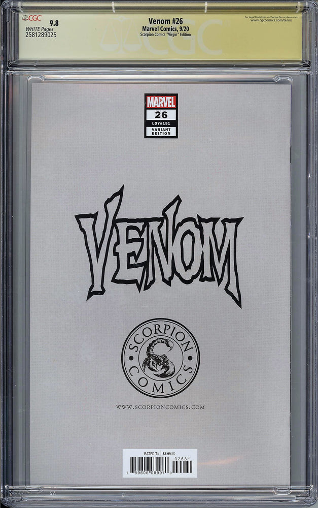 Load image into Gallery viewer, Venom #26 CGC SS 9.8 Clayton Crain Virgin Variant - First Appearance of Codex