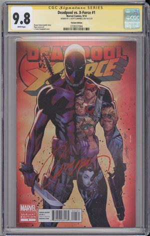 Load image into Gallery viewer, Deadpool vs. X-Force #1 CGC SS 9.8 J Scott Campbell signed Cover B Incentive Variant