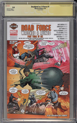 Deadpool vs. X-Force #1 CGC SS 9.8 J Scott Campbell signed Cover B Incentive Variant