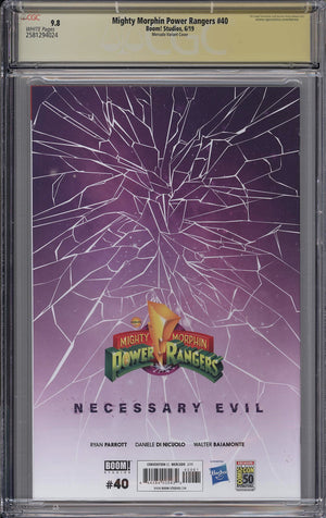 Mighty Morphin Power Rangers #40 CGC SS 9.8 Miguel Mercado signed - SDCC Virgin Variant