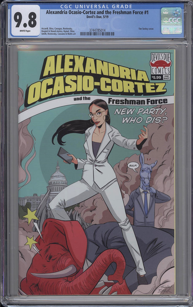 Load image into Gallery viewer, Alexandria Ocasio-Cortez Freshman Force #1 CGC 9.8 AOC Cover