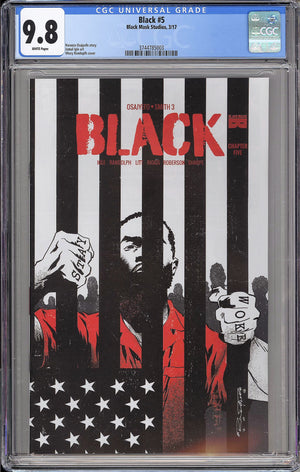 Load image into Gallery viewer, Black #5 CGC 9.8 Khary Randolph Cover A