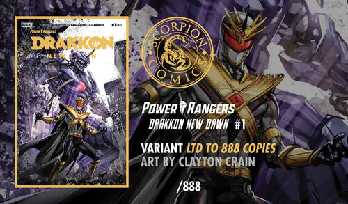 Load image into Gallery viewer, Power Rangers Drakkon New Dawn #1 Clayton Crain Virgin Variant Set