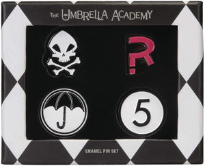 Load image into Gallery viewer, SDCC 2019 Exclusive Umbrella Academy Enamel Pin Set