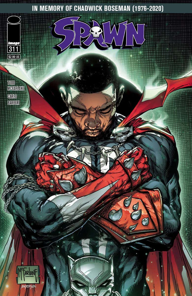 Spawn #311 Todd McFarlane Cover B & D Set - Chadwick Boseman Tribute