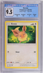 Pokémon Eevee #104 Sun & Moon Ultra Prism 2018 CGC 9.5 GEM MINT