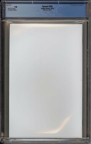 Load image into Gallery viewer, Spawn #265 CGC 9.8 Scorpion Comics GOLD Logo Blank Variant