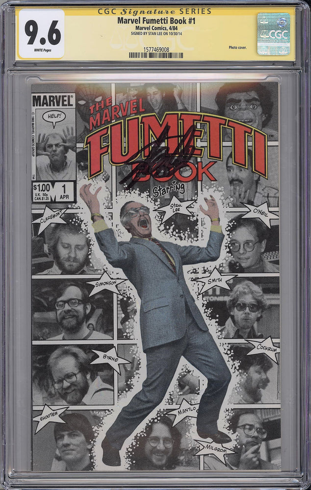 Marvel Fumetti Book #1 CGC SS 9.6 Stan Lee signed Photo Cover