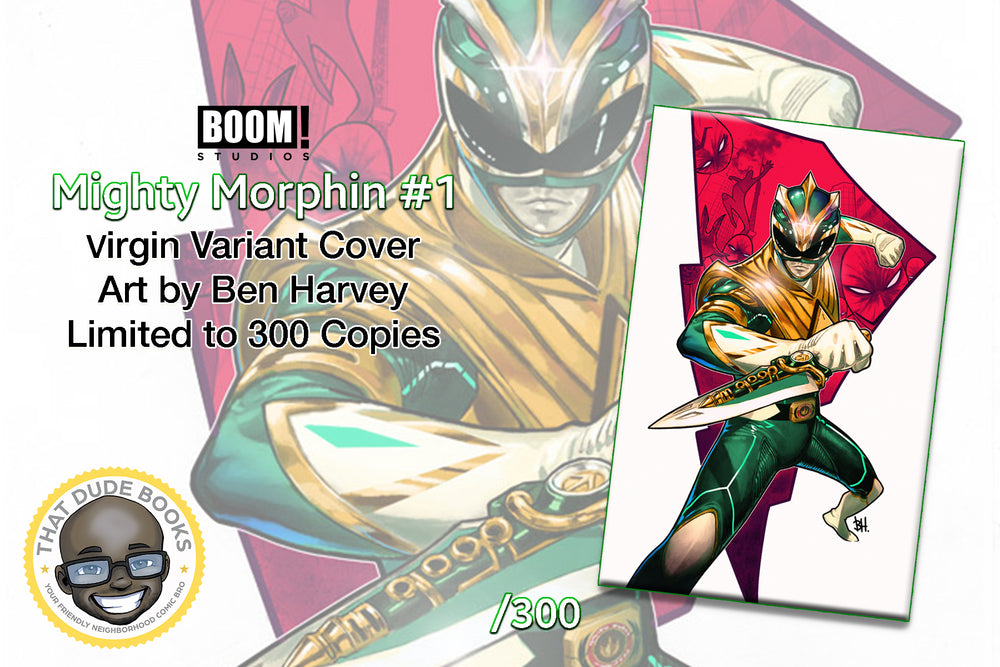Mighty Morphin #1 Ben Harvey Virgin Variant Cover