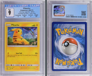 Load image into Gallery viewer, Pokémon Pikachu Cracked Ice Holo #28 Sun & Moon Shining Legends 2017 CGC 9.0 GEM