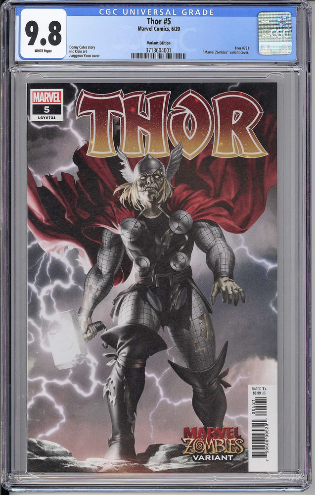 Thor #5 CGC 9.8 Zombie Variant - First Full Appearance of Black Winter