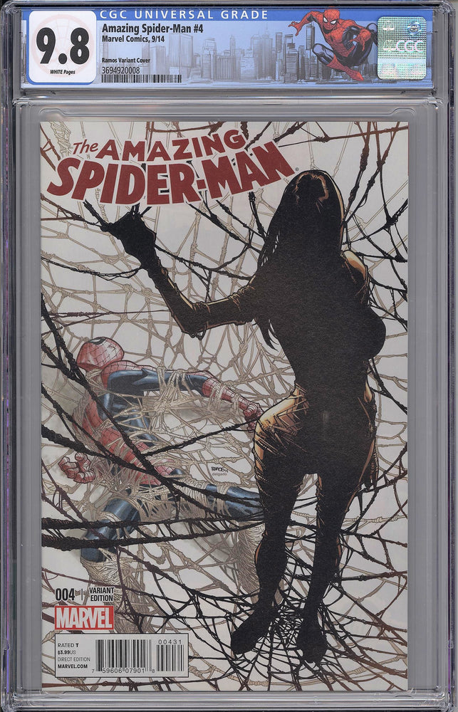 Amazing Spider-Man #4 CGC 9.8 Ramos Variant - First Appearance of Cindy Moon