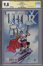 Thor #1 CGC SS 9.8 Skottie Young Variant - Remarked First Full Jane Foster as Thor