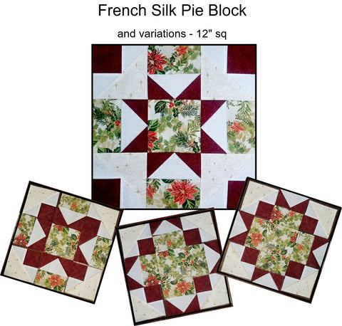 French Silk Pie Block and variations