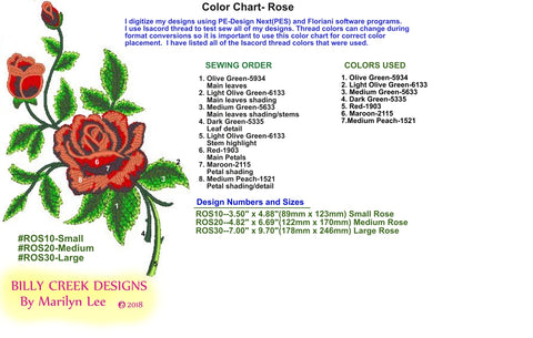 Rose official color chart