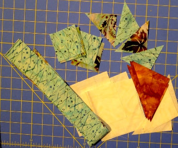 Pieces cut ready to start piecing Entwined Star
