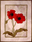 Poppy Day - a 3d quilt by Ruth Blanchet
