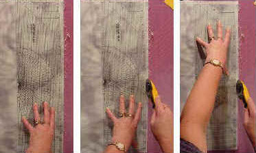 How to make long cuts with a shorter ruler